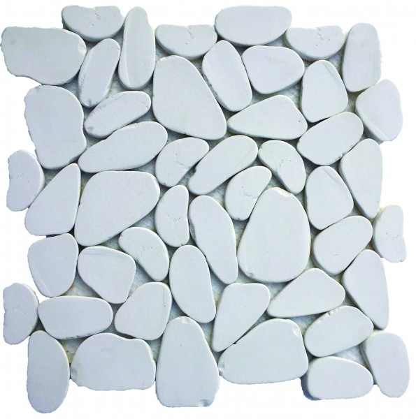 Reconstituted White XL Pebble Stone