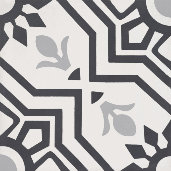 CEMENT TILE CLASSIC DÉCOR 12 BLACK GREY OFF WHITE