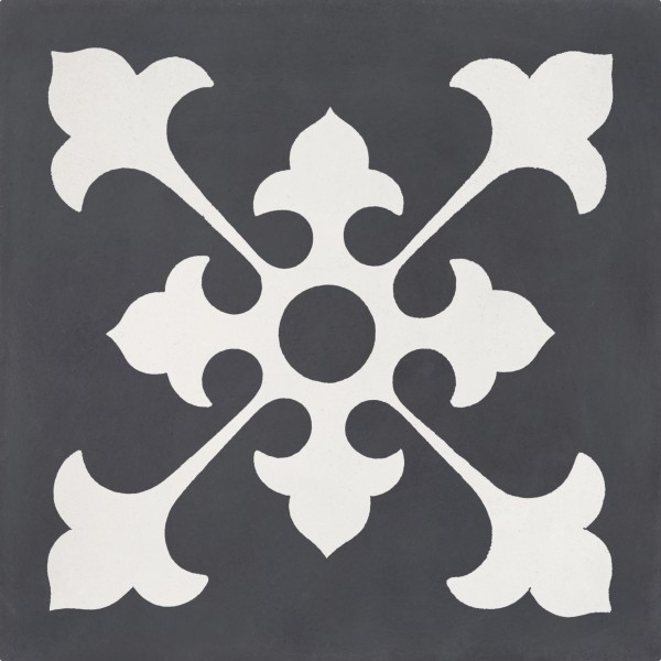 CEMENT TILE DÉCOR 1 CLASSIC OFF WHITE ANTRACITE