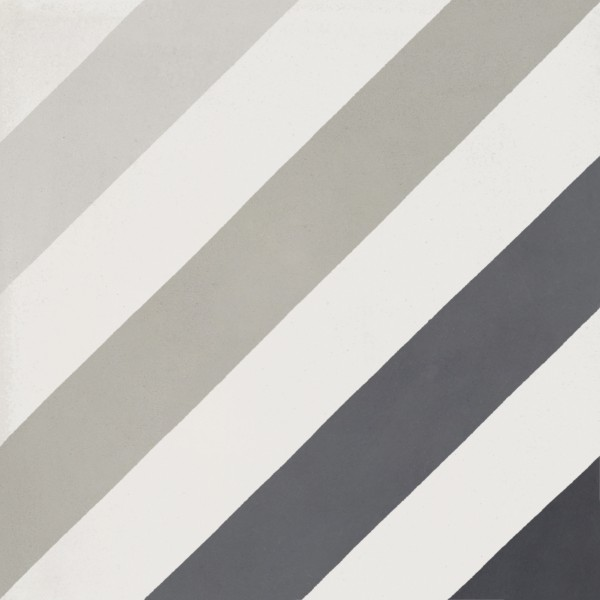 CEMENT TILE DÉCOR 15 MODERN DIAGONAL OFF WHITE BLACK GREY