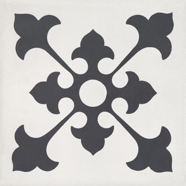 CEMENT TILE DÉCOR 2 CLASSIC ANTRACITE OFF WHITE