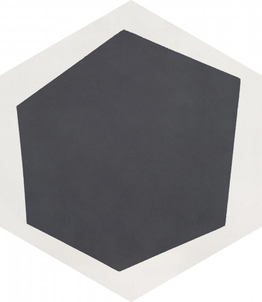CEMENT TILE HEXAGON DÉCOR 1 MODERN OFF WHITE ANTRACITE