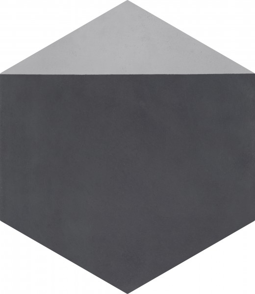 CEMENT TILE HEXAGON DÉCOR 3 MODERN ANTRACITE GREY