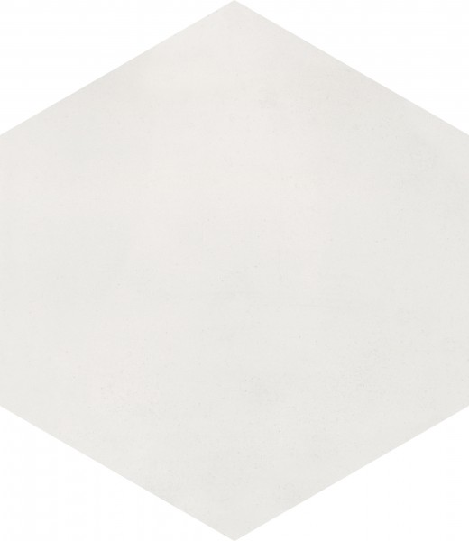 CEMENT TILE HEXAGON UNI OFF WHITE C1