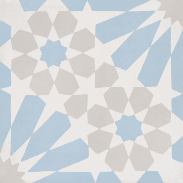 CEMENT TILE MODERN DÉCOR 20 BLUE GREY OFF WHITE