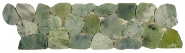 "Crystal Green Semi-Precious Stone Mosaic Interlocking Border - 4""x12"""