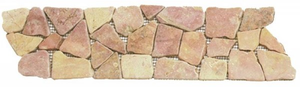 "Red Opus Mosaic Interlocking Border - 4""x12"""