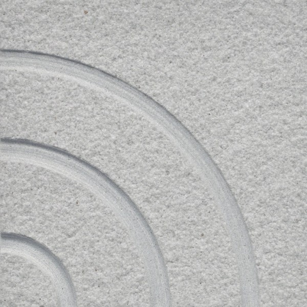 SANDSTONE CIRCLE DESIGN SAND BLASTED GREY
