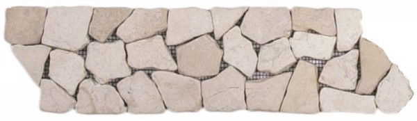 "White Opus Mosaic Interlocking Border - 4""x12"""